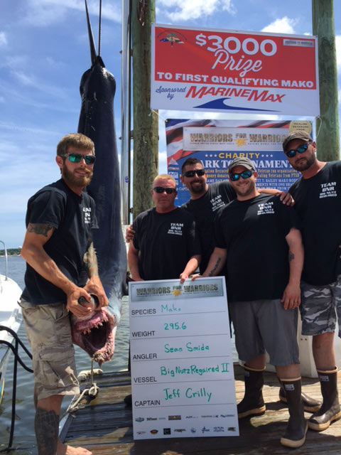 Marine Max First Qualifying Mako Weighed In Big Nutz Required II 296.6 Lb Mako